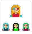 Collection of in paper sticker vector image vector image