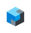 cube 3D box logo vector image vector image