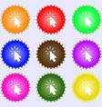 Cursor icon sign Big set of colorful diverse vector image