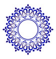 decorative round vector image vector image