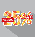 Discount 25 Percent Off vector image vector image