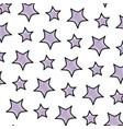 doodle light star art design background vector image vector image