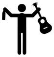drunk musician icon vector image