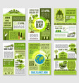earth day poster template for ecology design vector image vector image