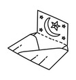 eid card icon doodle hand drawn or outline icon vector image