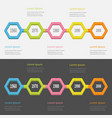 five step timeline infographic set colorful 3d vector image