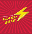 flash sale design with thunder vector image