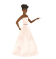 furious african-american fiancee screaming vector image vector image