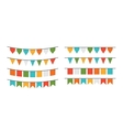 garlands flags different forms vector image