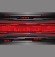 grey metallic black circuit red digital wave vector image vector image