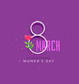 happy international womens day background vector image