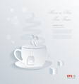 Have a nice tea time background vector image