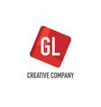 initial letter gl logo template design vector image vector image