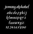 jemuxy alphabet typography vector image vector image