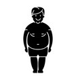 man fat - fat guy icon black vector image vector image