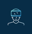 man with vr glasses modern colored linear vector image