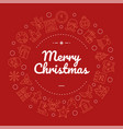 merry christmas social media banner with linear vector image vector image