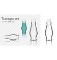 mock up realistic glass transparent sauce bottles vector image