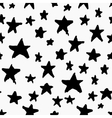 Monochrome seamless pattern with stars vector image vector image