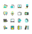 multimedia and communication media icons vector image