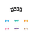 of gambling symbol on card vector image vector image