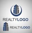 realty logo 3 2 vector image vector image