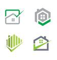 realty logo check concept vector image