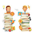 Schoolchildren School infographic elements 3d vector image