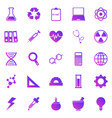 science gradient icons on white background vector image