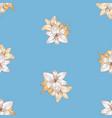 seamless pattern sketches delicate garden vector image vector image