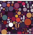 Seamless Pattern with Numbers and Circles vector image vector image