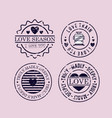 set love seals icons vector image vector image