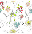 stylized seamless wallpaper vector image vector image