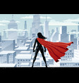 super heroine watch vector image vector image