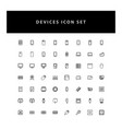 technology device icon set with outline design vector image