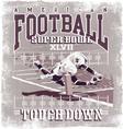 Touchdown American Football vector image vector image