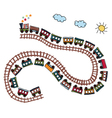 train pattern vector image vector image