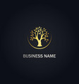 tree nature ecology gold logo vector image vector image