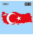 turkey map border with flag eps10 vector image