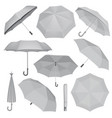 umbrella mockup set realistic style vector image
