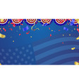 usa independence day poster with air balloons and vector image vector image