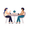 women friends cafe meeting with friends girls vector image vector image