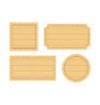 wooden empty signboard badge wood texture vector image vector image
