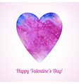 Romantic card with watercolor heart vector image