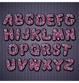 Hand drawn cartoon doodle font vector image