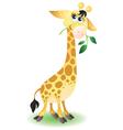 Happy very cute baby giraffe vector image