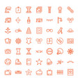 49 vintage icons vector image vector image