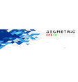 abstract geometric triangle blue banner mosaic vector image