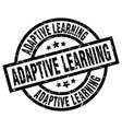 adaptive learning round grunge black stamp vector image vector image