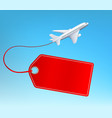 airplane fly with empty label for copy space vector image